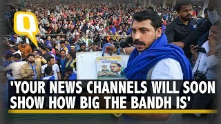 Bhim Army Chief Chandrashekhar Azad Calls for Bharat Bandh; UP, Bihar, NCR Feel Impact | The Quint