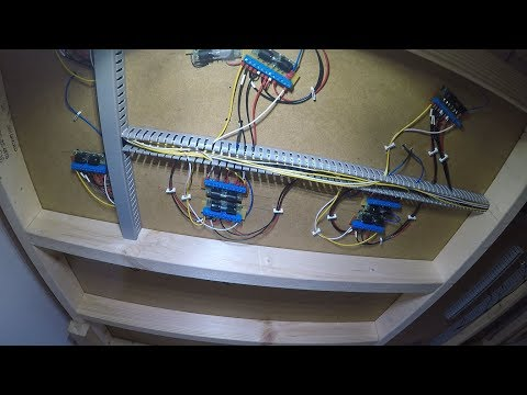 Building a Model Railway #14 – Fiddle Yard Wiring – Part 7