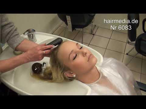 6083 Anissa Trailer Shampoo Hairwash Forward Backward Wetset Shiny Cape