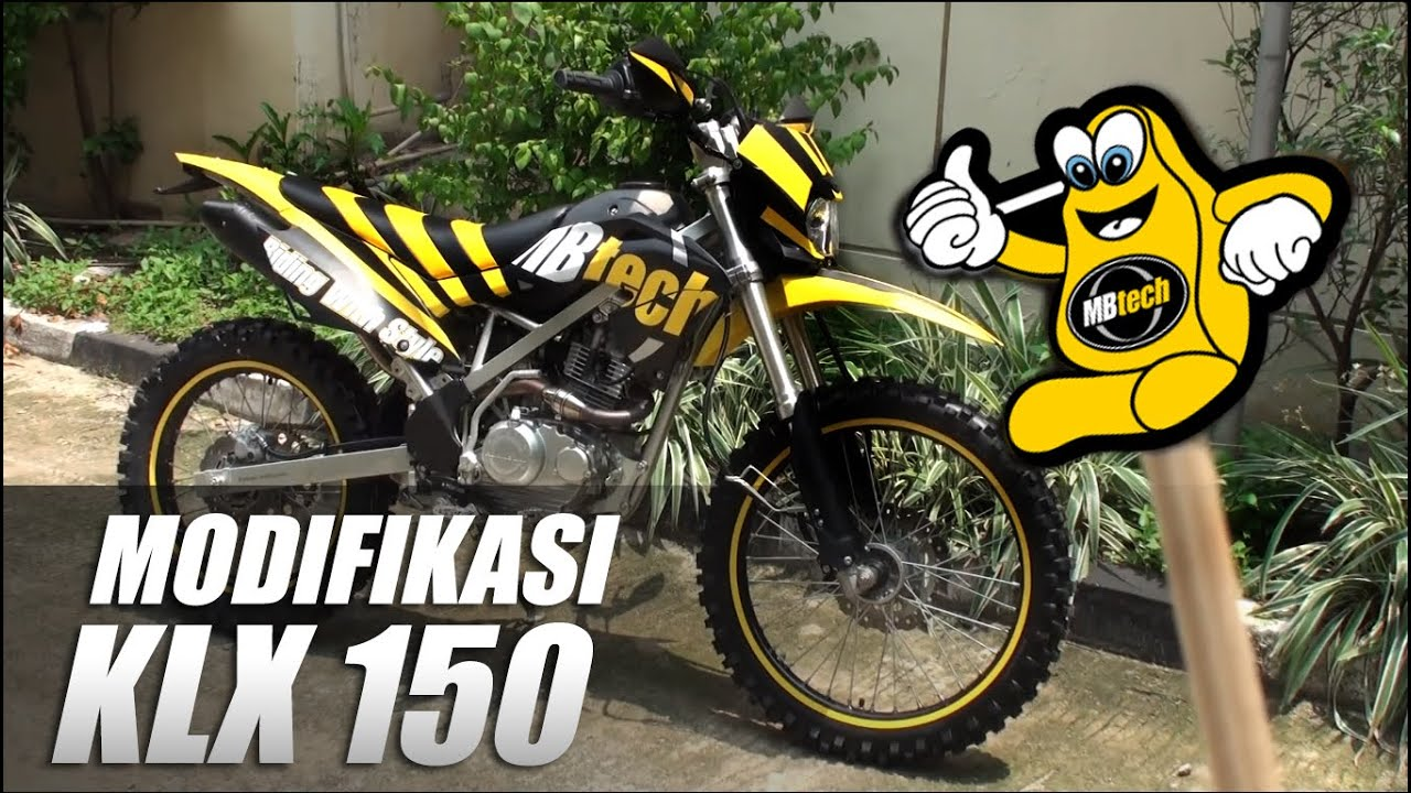 modifikasi trailfie klx 150 bf se - youtube