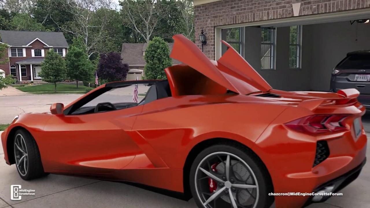 Chazcron S 2020 Corvette Convertible Graces His Driveway