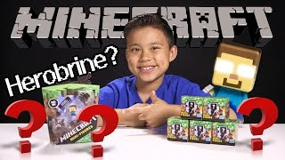 MINECRAFT Mini-Figure MYSTERY BOX Opening! Blind Bag HEROBRINE Minifigure! Exlusives!
