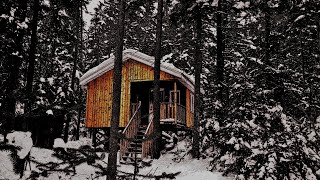 Winter Mountain Hike/Overnight To A Secluded Cabin In The Wilderness
