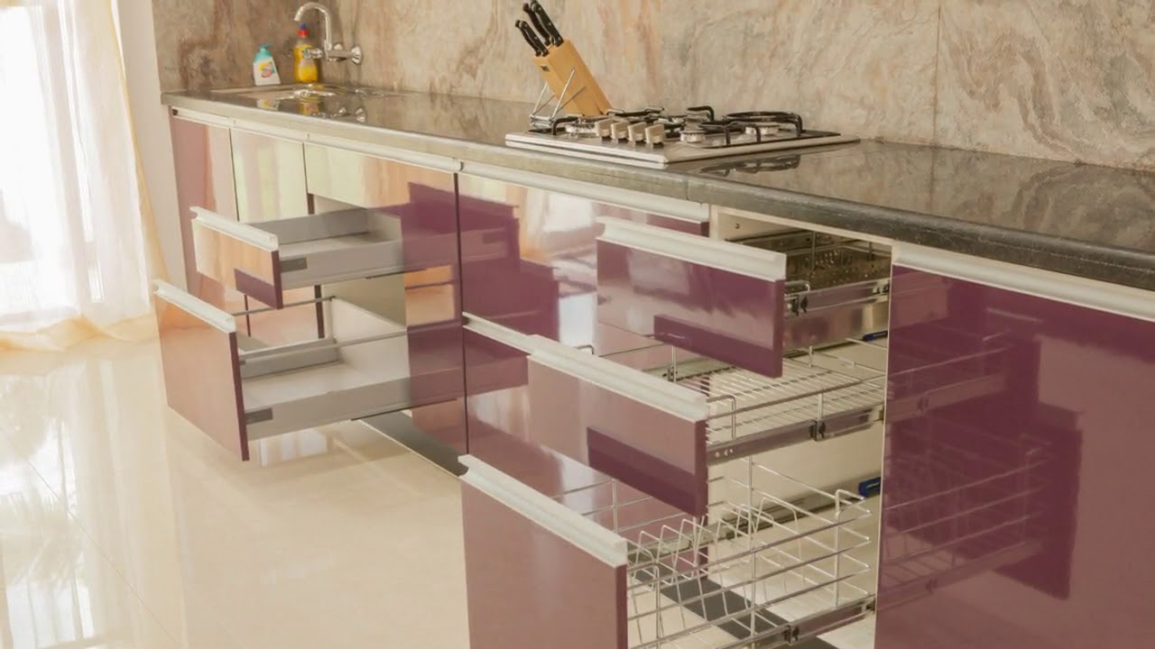 Lovely Modular Kitchen Baskets Designs In India