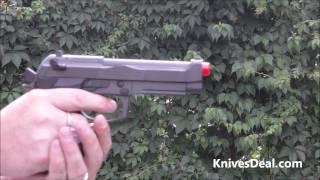 Gas Blowback Airsoft Pistol Semi - Full Auto Shooting Full Metal Beretta M9