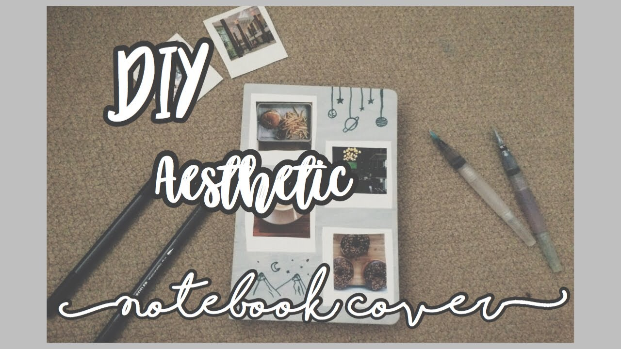DIY aesthetic notebook cover | back to school diys ...