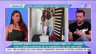 """Ramona Gabor: """"Este o binecuvântare de la Dumnezeu să faci un copil"""""""