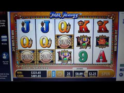 Tiger Treasures Great Win!  (OLG PLAY ONLINE)