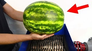 FAST SHREDDER VS BIG WATERMELON! AMAZING EXPERIMENT!
