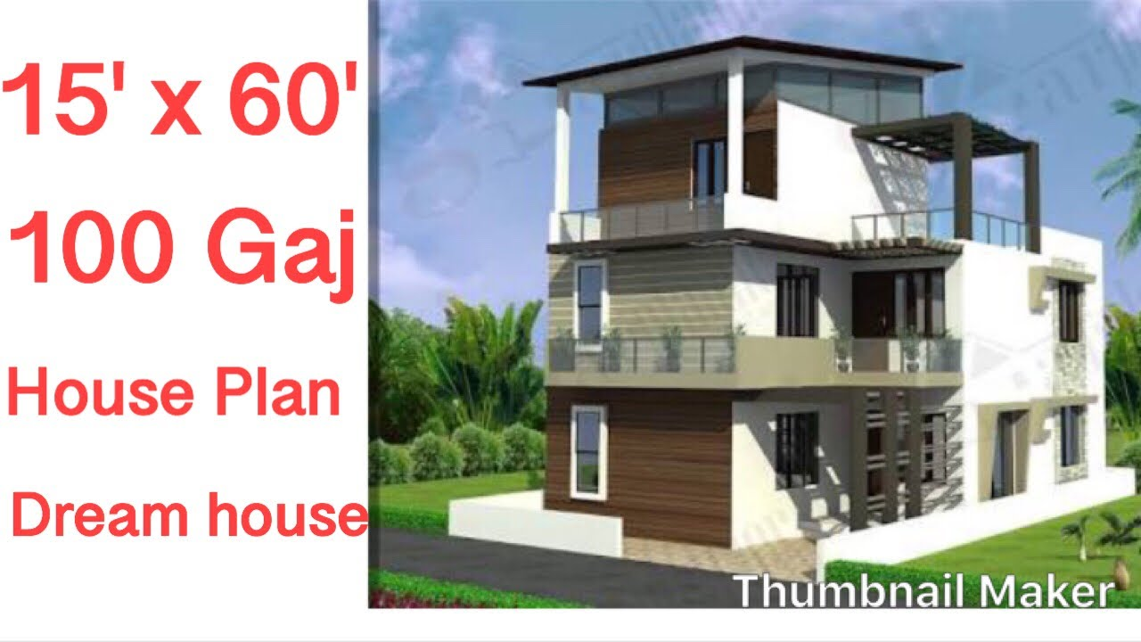 15 X 60 House Design Plan Type 1 1 Bhk With Car Parking