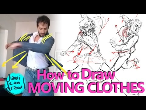 HOW TO DRAW CLOTHES IN MOTION - A Process Tutorial