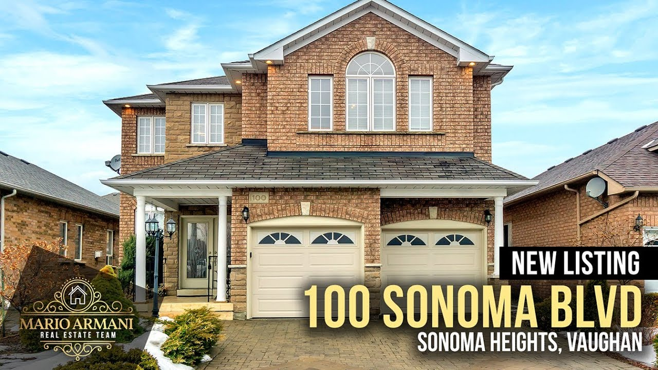 997a381f55 JUST LISTED! 100 Sonoma Blvd in Vaughan s Sonoma Heights Community ...
