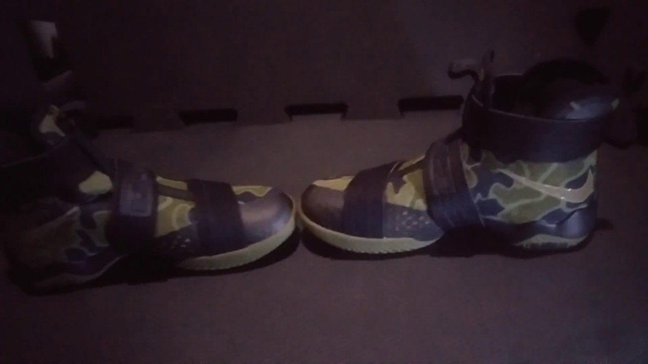 20972a81a9d6d My lebron soldier 10 camo - YouTube