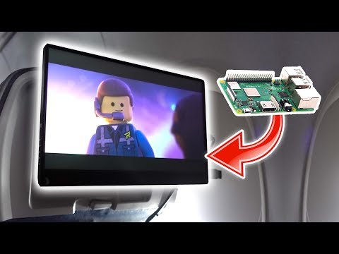 I made my own IN-FLIGHT entertainment system! ft. Raspberry Pi