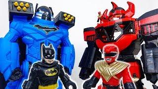Giant Batbot Xtreme VS. Power Rangers Megazord~! #ToyMartTV