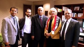 Yemeni American News Recognizes Dr. Gail Mee President of HFCC - English Report
