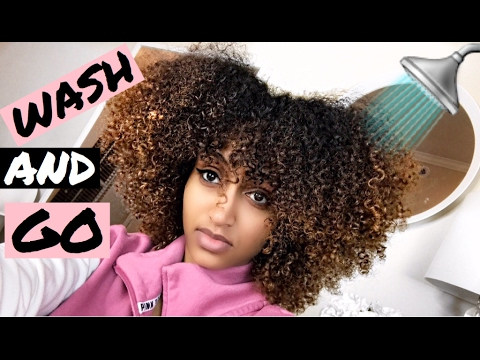 wash day curly hair wash and go for 3b 3c trying two products youtube. Black Bedroom Furniture Sets. Home Design Ideas