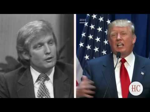 Young DONALD TRUMP  And HILLARY CLINTON in their 30s — INTERVIEWS, IRONY & LIES