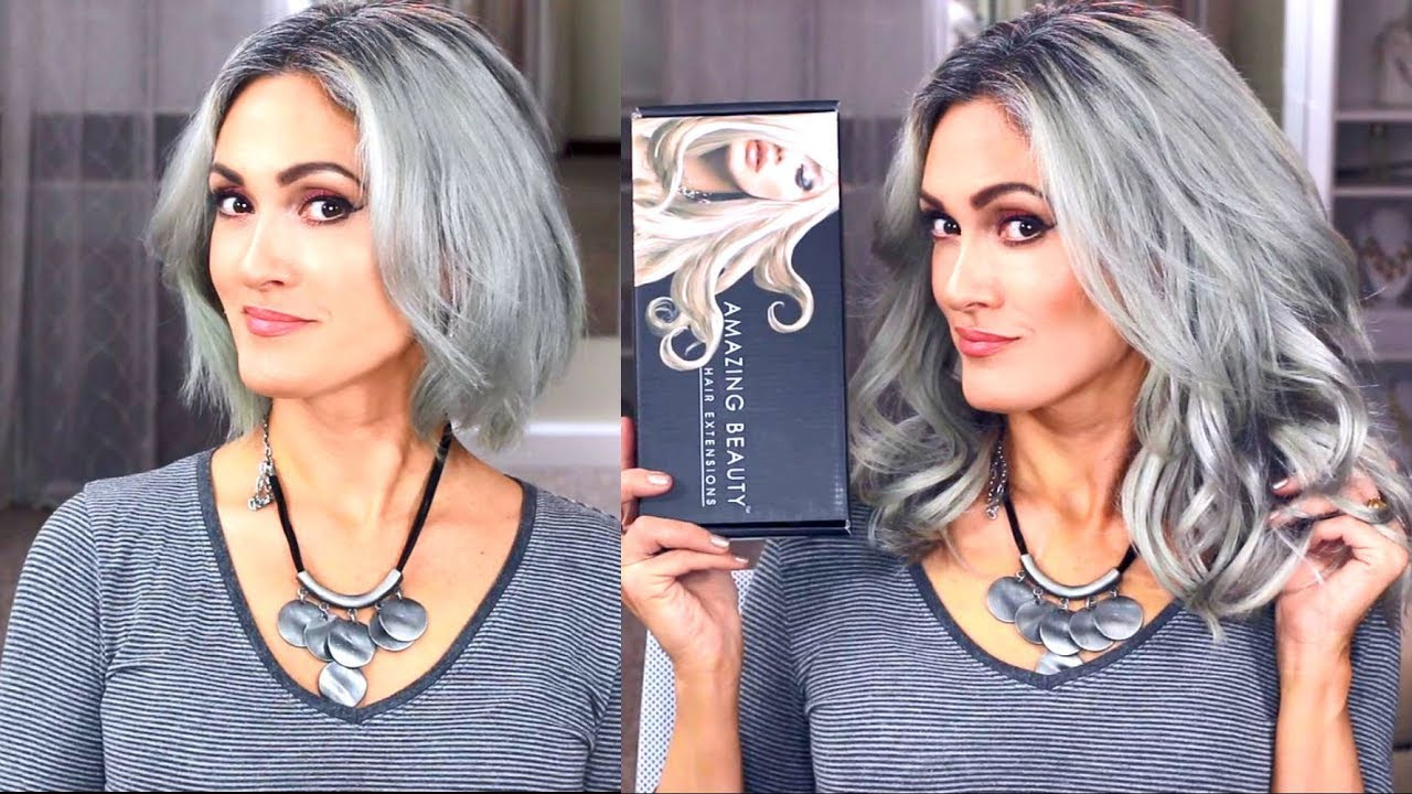 How To Blend Clip In Hair Extensions Giveaway Amazing Beauty