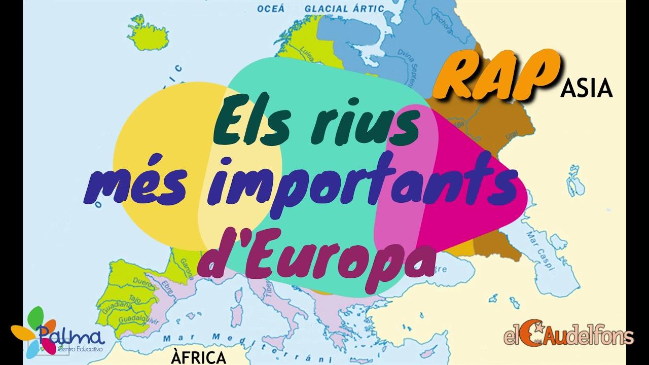 Mapa Fisic D Europa Rius.El Rap Dels Rius Mes Importants D Europa