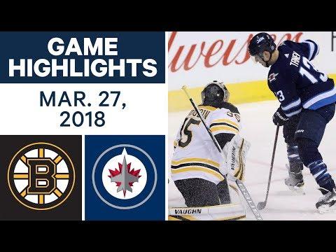 NHL Game Highlights | Bruins vs. Jets - Mar. 27, 2018