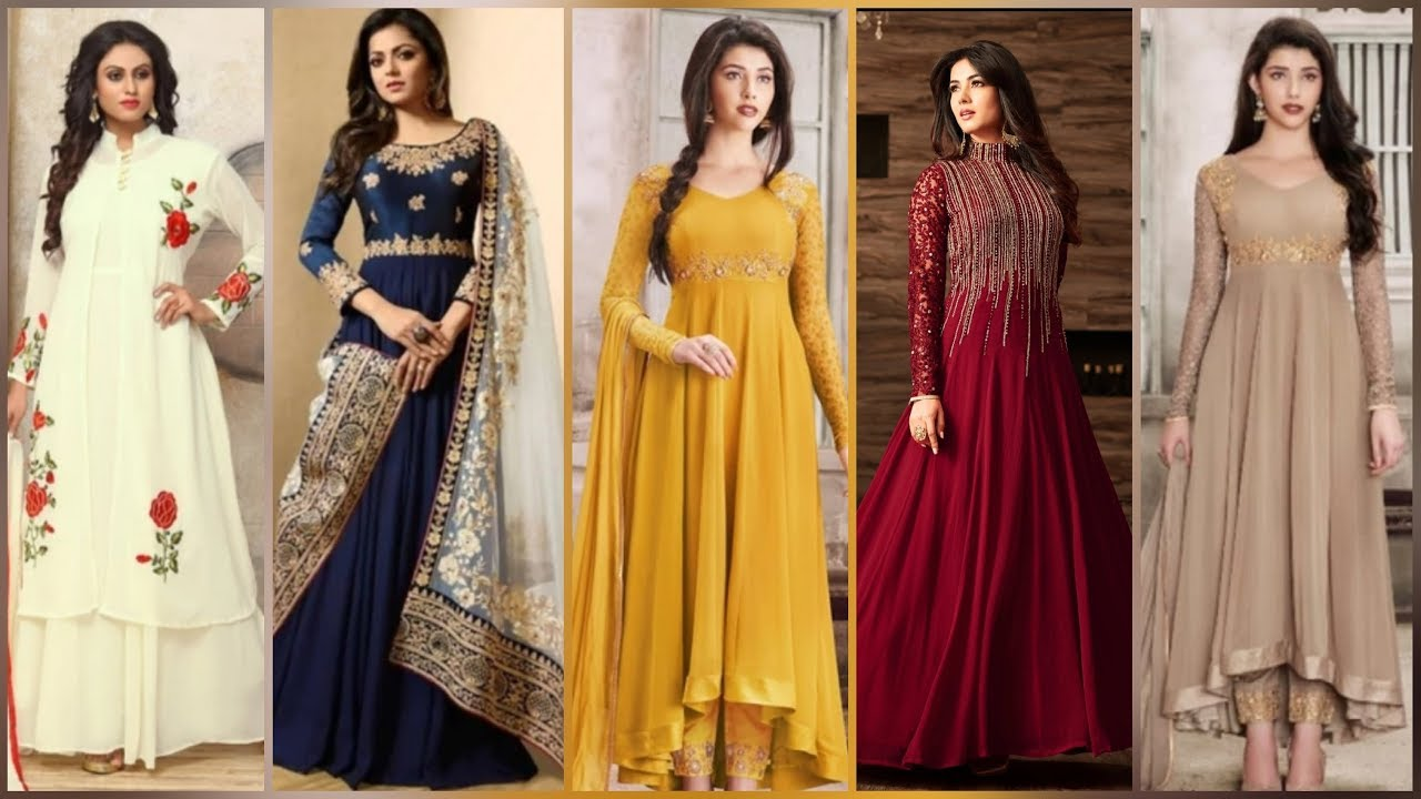 Beautiful Traditional Party Wear Long Dresses For Girls / Women /Ladies