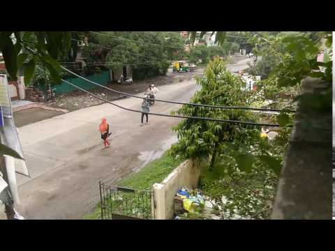 Timelapse-Typical Indian Street