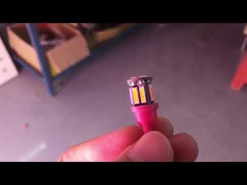 Automotive led bulb:T10-WG-10SMD7020