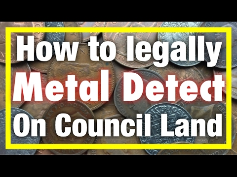 How to Metal Detect on Council Land Legally