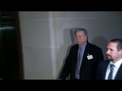 Steve Bannon arrives for House Intelligence testimony