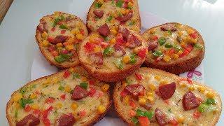 Bayat Ekmekle Pizza Nasıl Yapılır