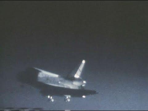 space shuttle landing night - photo #8