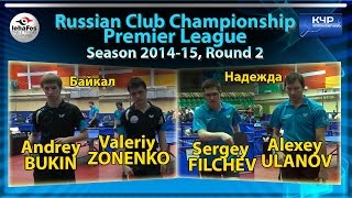Russian Club Championships BUKIN, ZONENKO - ULANOV, FILCHEV Настольный теннис Table Tennis