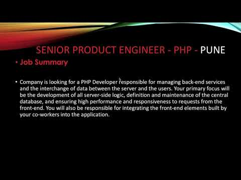 Job Opening For Senior Product Engineer PHP In Rise Smart Company Pune