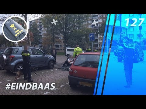 Boss along on the street. Politievlogger Jan-Willem. Law enforcement. Police Chief