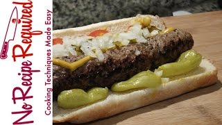 Chicago Bears Chicago Dog Burger - NFL Burgers - NoRecipeRequired.com