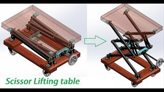 Design and Animation Of Scissor Lifitng Table   Mechanical Project