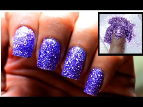 powder glitter nails cute nail