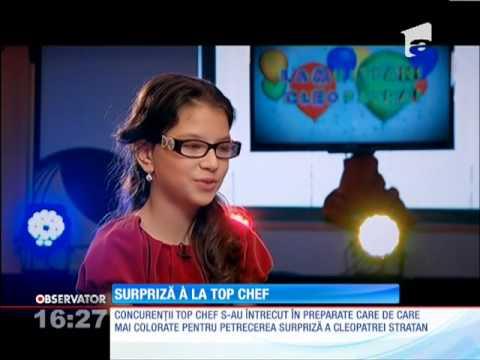Cleopatra Stratan a avut o surpriză marca Top Chef