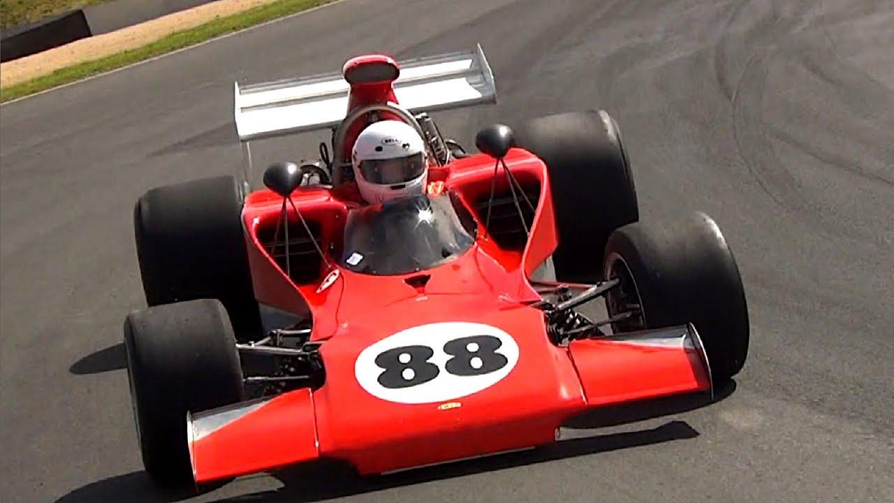 Formula 5000 - Lola T300 race car on track - YouTube