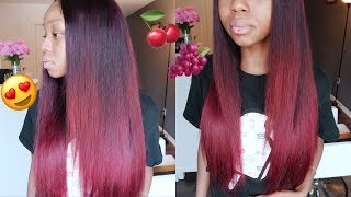 Violet Red Ombre | Aliexpress Beauty Forever Hair