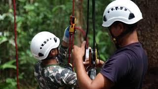 Tree Climbing Training with Tembé In Para, Brazil