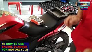 CARA MENGGUNAKAN ENGINE SCANNER MOTORCYCLE #YAMAHA 1