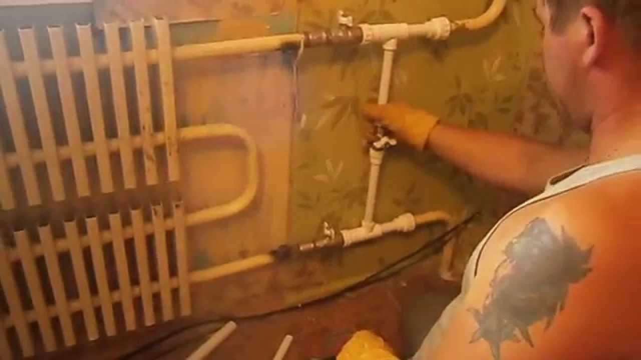 схема подключения батарей отопления от печки