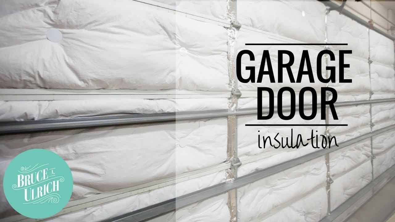 Garage Door Insulation How To Install Youtube