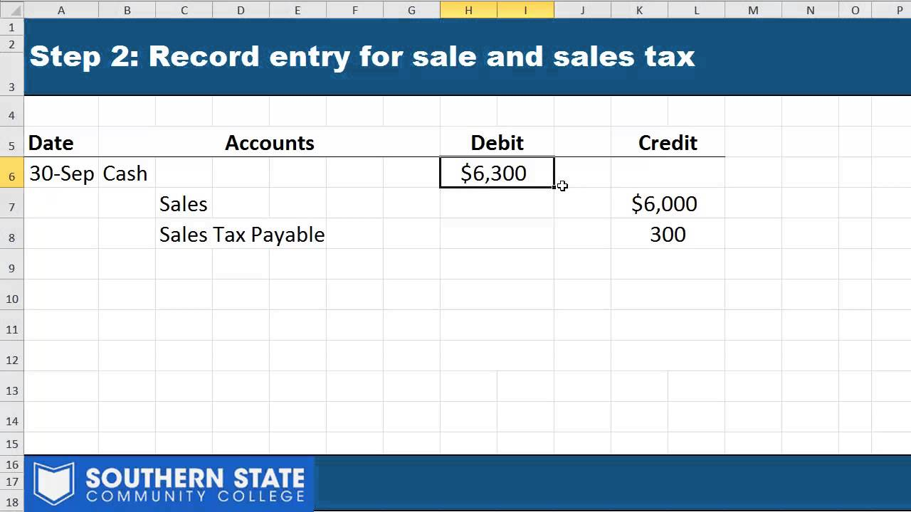 Sales Tax Payable Journal Entries - YouTube