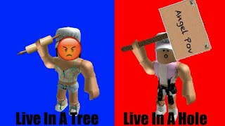 Would You Rather Live In A Hole Or Live In A Tree // Choose A Side // Roblox // ONP // Angel POV 😇