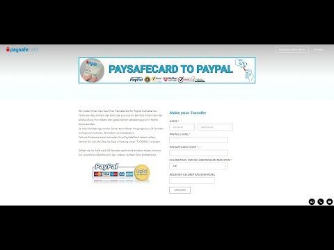 paysafecard auf paypal konto einzahlen