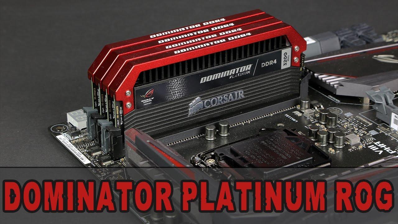 [Review] Corsair Dominator Platinum ROG Edition DDR4-3200 CL16 16GB Kit -  Unboxing & Review [GER/DE]