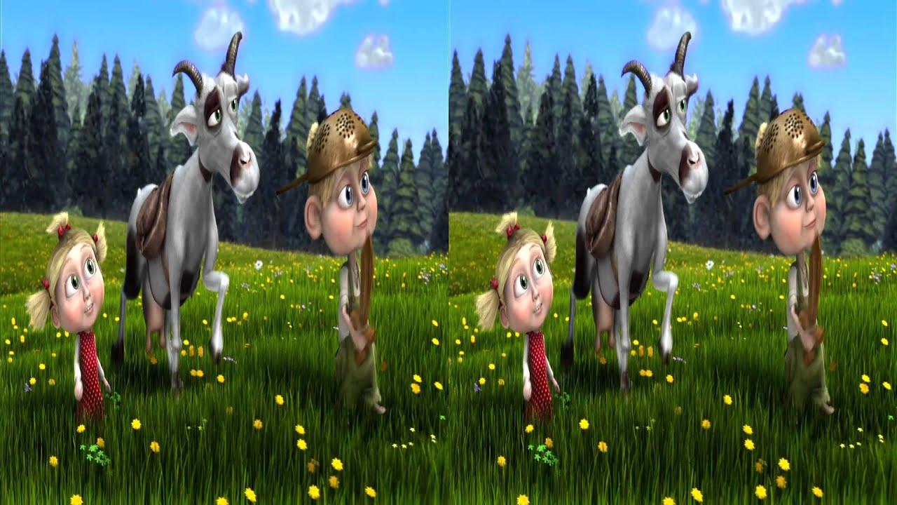 Kozí příběh 2 - Kozí příběh se sýrem - písnička 2012 ve 3D / Goat story in 3D